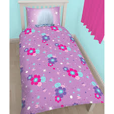 Single Duvet Covers And Matching Curtains Amazon Com Trolls Glow Single Us Twin Duvet Cover And Pillowcase