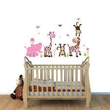 stickers girafe chambre bébé stickers bebe animaux jungle chambre bebe stickers animaux