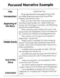 Example Of Writing Resume by Writing A Personal Essay Examples Haadyaooverbayresort Com