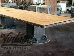 Vintage Conference Table Vintage Industrial Table Stunning Vintage Industrial Cast Iron
