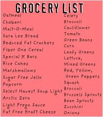 celebrity weight loss secret weight loss grocery list for men