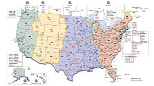 us map time zones with states time zone map usa with cities with zones roundtripticket me