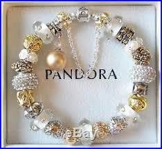 pandora charm silver bracelet images Authentic pandora sterling silver charm bracelet gold white jpg