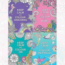 calm colour keep calm and colour collection 4 books set unicorns mermaids