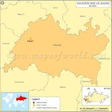map of kazan where is kazan location of kazan in russia map