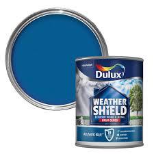 dulux weathershield exterior atlantic blue gloss wood u0026 metal