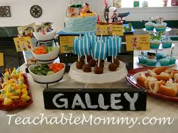 pirate birthday party jake and the neverland birthday party pirate food