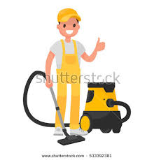 cartoon pictures of cleaning set cleaning company staff work equipment stock vector 567426385