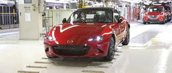 mazda car line the first fourth gen mazda mx 5s are rolling off the production
