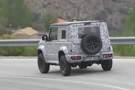 suzuki jimny 2018 suzuki jimny spotted looks bigger and boxier video