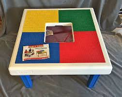 Storage Play Table Folding Custom Made Wooden Chalkboard Kids