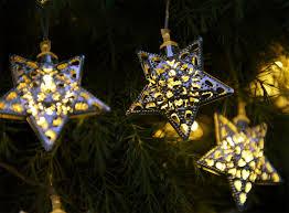 Solar Lantern String Lights set of 12 solar moroccan string lights stars auraglow led lighting