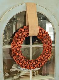 make a mini pumpkin wreath for fall hgtv