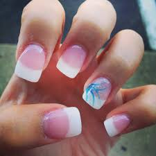 very sharp it u0027s white tip nails under the acrylic instead of the