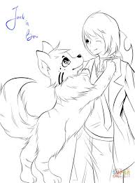 anime animals coloring pages free coloring pages