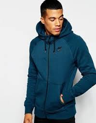 image 1 of nike zip up hoodie with swoosh logo 611456 473 bamu