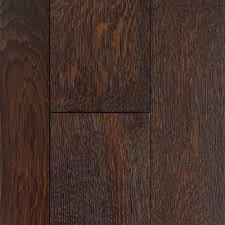 mocha oak wire brushed locking solid hardwood 3 4in x multi