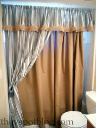 how to make a no sew shower curtain aka i have a close personal