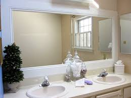 framed bathroom mirror ideas how to frame a bathroom mirror extraordinary with molding