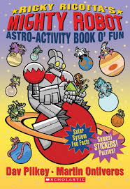 ricky ricotta ricky ricotta s mighty robot astro activity book o fun by dav