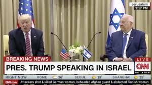 donald trump in israel live first sitting president to visit