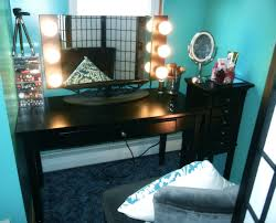 Turquoise Vanity Table My Makeup Vanity Collection Tour Youtube