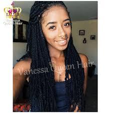 veanessa marley braid hair styles synthetic kinky twist braiding hair black twist braided lace front