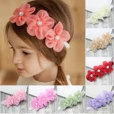 headband flowers fairy princess stylish baby hair band baby girl chiffon three