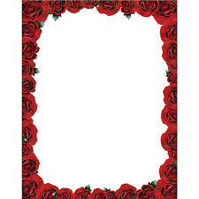 Paper For Invitations Invitation Paper Rectangle Potrait White Red Rose Framing Ivory