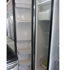 frigidaire glass door fridge frigidaire 26 cubic foot side by side refrigerator scratch and