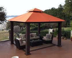 Metal Pergolas With Canopy by Stc Pergola 12x12 Seville Wicker Square Gazebo Gz734 Lowest