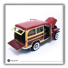 jeep station wagon 2018 1955 willys jeep woody station wagon by lucky die cast 1 18 scale