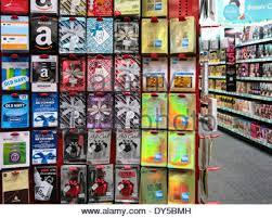 cvs prepaid cards prepaid card center display cvs store usa stock photo