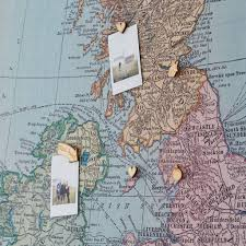personalised uk and ireland map notice board by the crafty