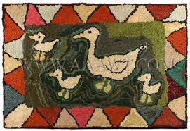 Duck Rugs Antique Textiles Rugs Hooked Rugs Mats Frost Rugs Frost