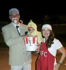 chicken halloween costumes easy family kfc halloween costume for the costume challenged