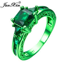 green rings images Junxin male female geometric ring green gold filled jewelry jpg