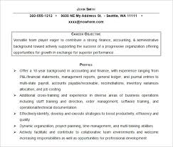Sample Resumes For Accounting by Resume Objectives U2013 46 Free Sample Example Format Download