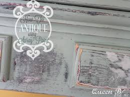 Tips For Spray Painting How To Antique Using Spray Paint