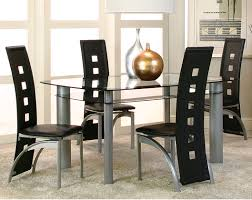 Modern Black Dining Room Sets by American Freight Dining Room Sets Modern Black Glass Dinette Set