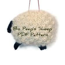 knitting pdf sheep pattern white wool mohair sheep ornament knit
