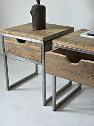 grey metal bedside table wood and metal bedside table erikaemeren