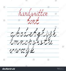 hand drawn calligraphic style alphabet set stock vector 369701117