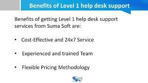 Service Desk Level 1 Ppt Level 1 Help Desk Support Usa Suma Soft Powerpoint