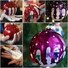 wonderful diy handprint ornaments ornament print
