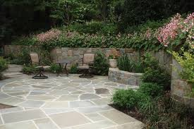 Retaining Wall Patio Design Patio With Retaining Wall And Water Feature Traditional