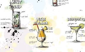 cocktail cartoon the most tasty cocktails u2013 travelling banana
