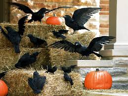 halloween outdoor decoration bird decorations for home zamp co