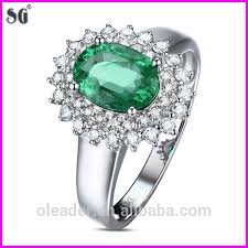 emerald rings wholesale images Fashion jewelry china supplier king 39 s crown shape 18k white gold jpg