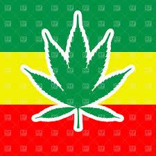 Rasta Flags Marijuana Leaf And Jamaica Flag Rastafari Symbols Free Vector